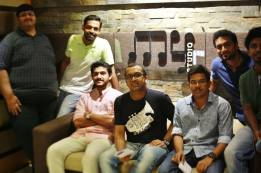 Ameyam Vocal Recording Session with Sachin Warrier at My Studio, Kochi. Image Courtesy: Borrowed Cam Productions.