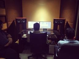 Amayem Vocal Recording at My Studio, Kochi. Image Courtesy: Borrowed Cam Productions.